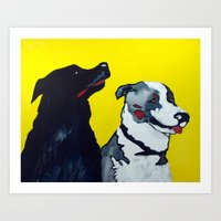 STINKY AND ZEKE By Jean-… Art Print