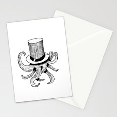 Squid is lost in hat Stationery Cards
