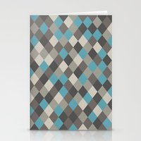 Harlequin Grey Stationery Cards