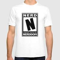 Rated N For Nerd Mens Fitted Tee White SMALL