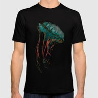 Méduse Bleue T-shirt Lo… Mens Fitted Tee Black SMALL