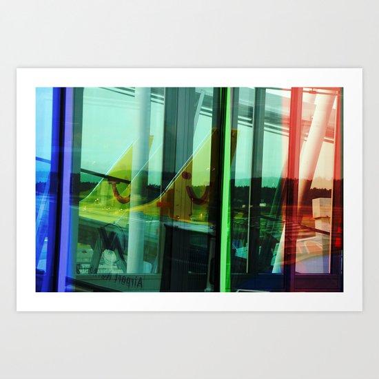 Kitchen Window Uptown Coffee Festival 2016: Window Reflection Art Print By LoRo Art & Pictures