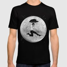 Black & White Collection -- Men Are From Mars SMALL Black Mens Fitted Tee