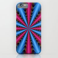 iPhone & iPod Case featuring 16 Segments in Pink and Blue by Objowl