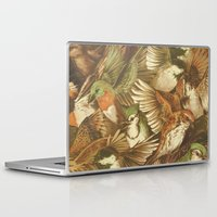 red Laptop & iPad Skins featuring Red-Throated, Black-capped, Spotted, Barred by Teagan White