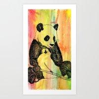Panda Trip Art Print