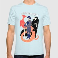 The Knight, Death, & The… Mens Fitted Tee Light Blue SMALL