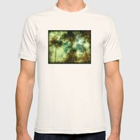 Forest Memories In Green Mens Fitted Tee Natural SMALL