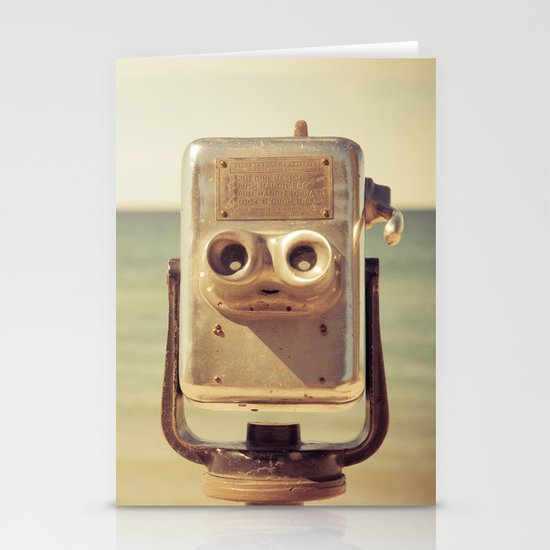 Robot Head Stationery Card