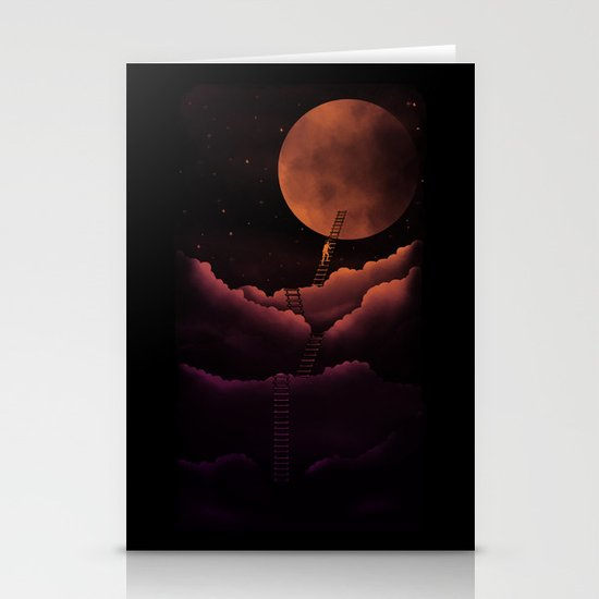 Stairway To the Moon Stationery Card