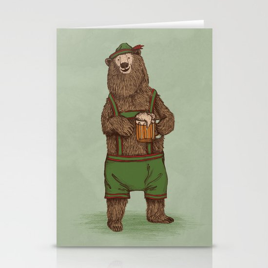 Traditional German Bear Stationery Card