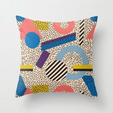 Memphis Inspired Pattern… Throw Pillow