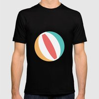 #37 Beachball Mens Fitted Tee Black SMALL
