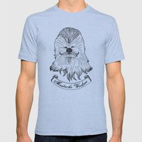 Mustache Wookiee Mens Fitted Tee Athletic Blue SMALL