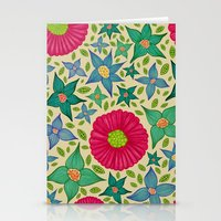 Floral and Leaf Stationery Cards