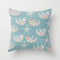 Kissmas Throw Pillow
