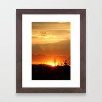 Sunset in Big Sky Country Framed Art Print