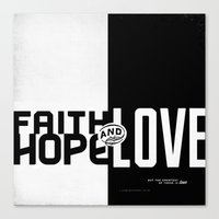 Faith, Hope, Love II Canvas Print