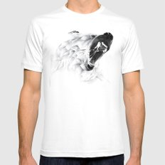 Angry Bear White Mens Fitted Tee SMALL
