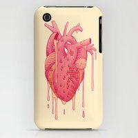 iPhone 3Gs & iPhone 3G Cases featuring Honey Heart by Biana Bova