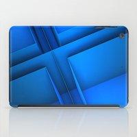 Clean Lines (Blue) iPad Case