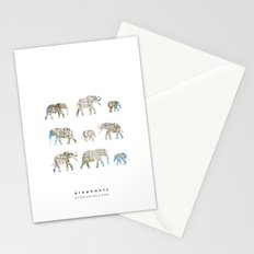 Elephants of the United States Stationery Cards