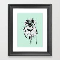 Frog Owl Framed Art Print