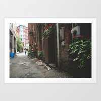 Beautiful Dark Alley Art Print