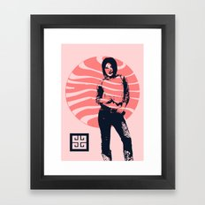 jean ad 2 Framed Art Print