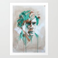 sherlock Art Prints featuring Sherlock by Dan Olivier-Argyle