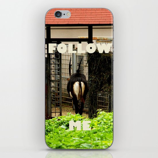 Follow me! iPhone & iPod Skin