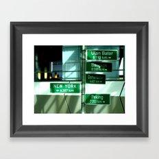Where to next ? Framed Art Print