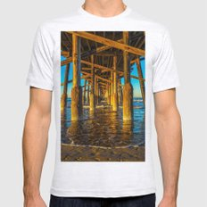 Under Newport Pier Mens Fitted Tee Ash Grey SMALL