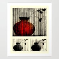 Vase Collage (focal) Art Print