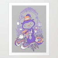 Tea Monkey Tea Party Art Print