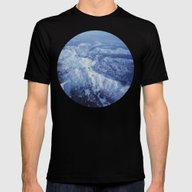 Winter Mountain Range II Mens Fitted Tee Black SMALL