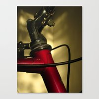 A Study In Scarlet Bicycle Canvas Print