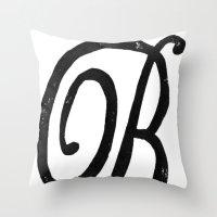 Monogrammed Letter B Throw Pillow