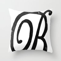 Monogrammed Letter B Throw Pillow