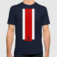 The Effect (Clean) Mens Fitted Tee Navy SMALL