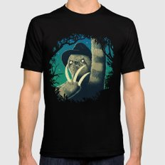 Sloth Freddy Black Mens Fitted Tee SMALL