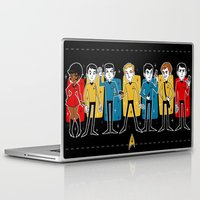 star trek Laptop & iPad Skins featuring Star Trek by ZoeStanleyArts