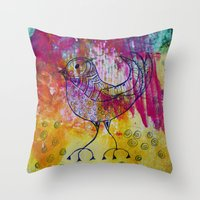 BiRD- JUSTART © Throw Pillow
