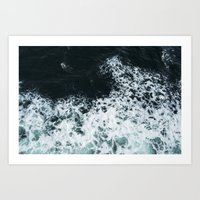 Ocean's glass Art Print