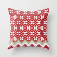 Glove in Red Throw Pillow