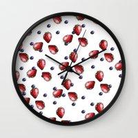 Berry Fields Wall Clock