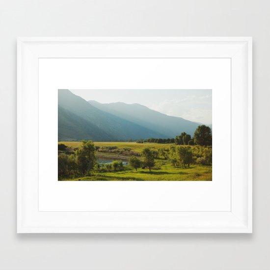 Wading Deer Framed Art Print