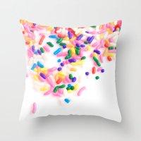 Ice Cream & Sprinkles Throw Pillow