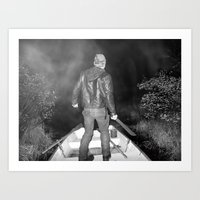 Black Lake Adventure Art Print