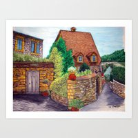 English Village Art Print